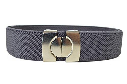 Cintura Elasticizzata per Bambini 1-11 Anni, Singolo Colore - Grigio Scuro