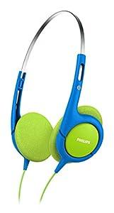 Philips SHK 1030 Leichtkopfhörer für Kinder grün-blau (Maximale Lautstärke auf 85dB begrenzt)