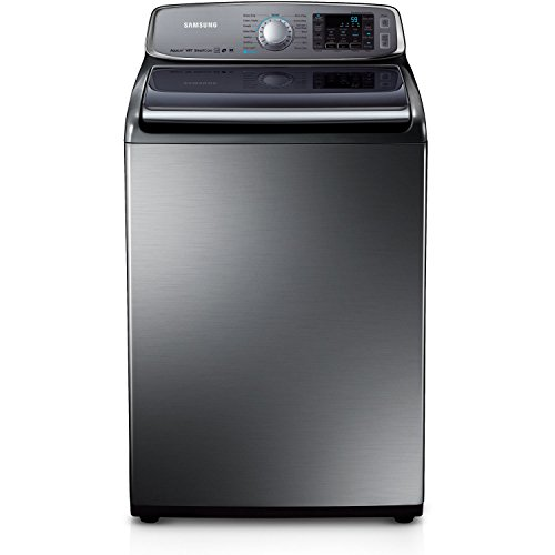Samsung WA50F9A8DSP Stainless Platinum Top Load Washer with AquaJet, 5.0 Cubic Feet