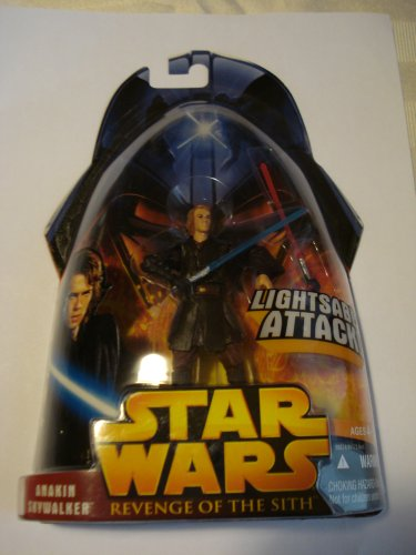 STAR WARS REVENGE OF THE SITH ANAKIN SKYWALKER LIGHTSABER ATTACK 2