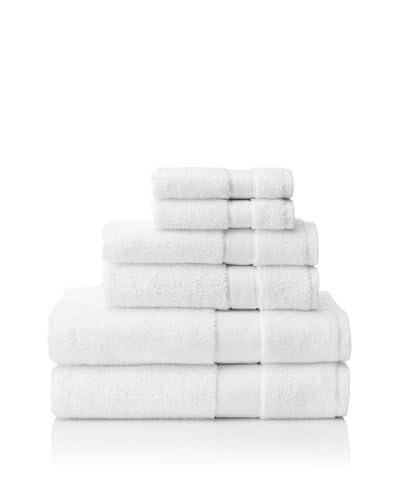 Cobra Trading 6-Piece Signature Terry Towel Set, White