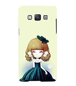 iFasho Winking Girl with green Cap Back Case Cover for Samsung Galaxy A5