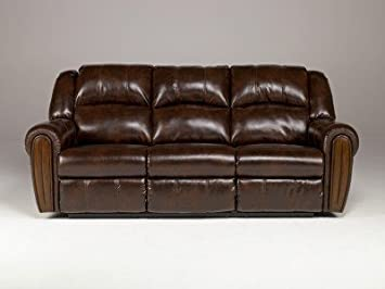 Durablend Brown Reclining Sofa Leather
