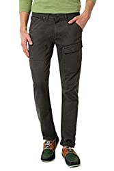 SF Jeans by Pantaloons Men's Flat Front Cargo (301177608_Grey_28)