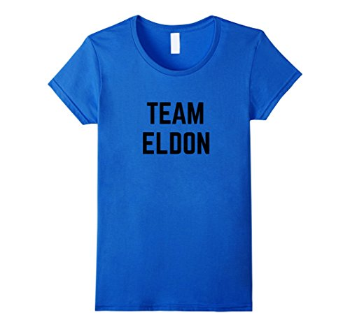 Women's TEAM Eldon | Friend, Family Fan Club Support T-shirt XL Royal Blue (Eldon Shirt compare prices)