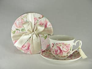 Porcelain Tea Cup and Saucer in Gift Box by Delton