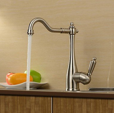 Compare Prices Contemporary Brass Kitchen Faucet Nickel