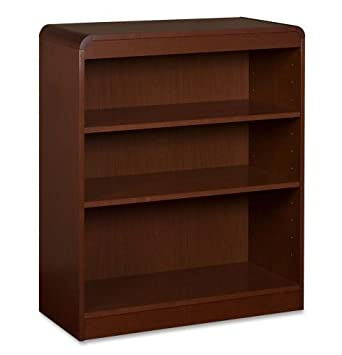 Lorell 3-Shelf Adjustable Bookcase, 36 by 12 by 36-Inch, Mahogany