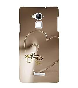 EPICCASE Marry Me Mobile Back Case Cover For Coolpad Note 3 Lite (Designer Case)