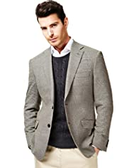 Big & Tall Collezione Wool Rich 2 Button Mini Checked Jacket