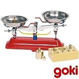 BALANZA comercial de juguete con 2 platos fabricada en metal por GOKI Indicado niños + de 5 años