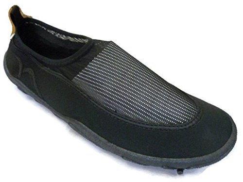 Ska Doo Mens Slip On Water Shoe, Black, Size 13