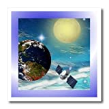 ht_18531_1 SmudgeArt Sci Fi Designs - Space Station - Iron on Heat Transfers - 8x8 Iron on Heat Transfer for White Material