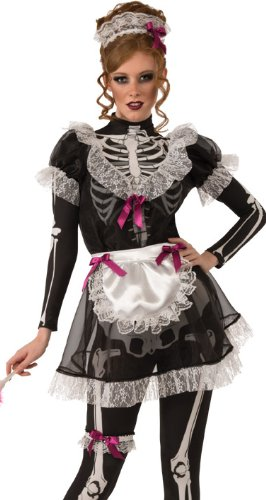 Rubies Sexy Zombie Skeleton French Maid Halloween Costume