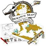 Scratch Personalized World Map Poster (Travel Edition)