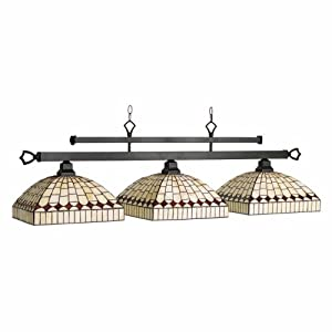 RAM Gameroom Products YOR-B56 Yorkville 3-Light Billiard Light - 56W in.