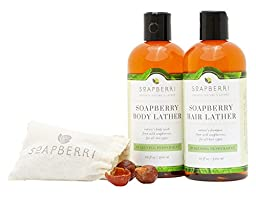 Soapberri Box Gentle, Organic Shampoo and Body Wash in Awakening, Peppermint