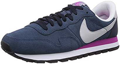 Nike Air Pegasus 83 Leather, Chaussons Sneaker Homme - Bleu (New Slate/Dove Grey-Dark Obsidian), 45.5 EU