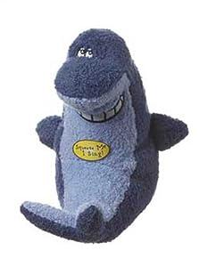 Multipet Deedle Dude Singing Shark Plush Dog Toy, 8-Inch, Blue