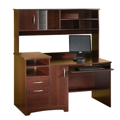Cherry Contemporary Computer Home Office Desk
