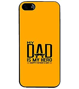 PrintDhaba Happy Father's Day D-1216 Back Case Cover for APPLE IPHONE 4S (Multi-Coloured)