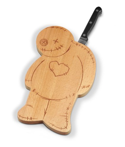 Fred & Friends OUCH! Voodoo Cutting/Serving Board and Knife Set