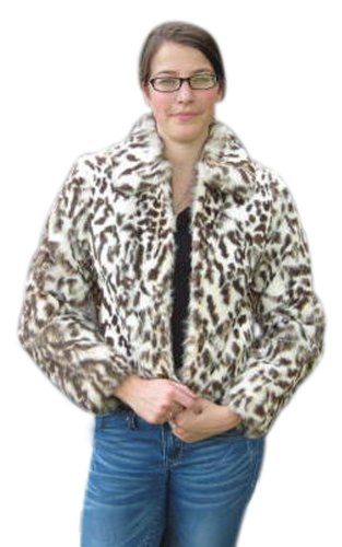 Bergama White Brown Rabbit Jacket - Small - Multicolor