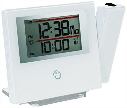 RM368P_W Slim Line Flachste Projektionsuhr der Welt (weiß)
