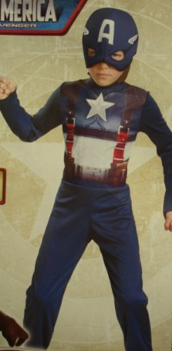 Captain America Movie Retro Costume (M (7-8))