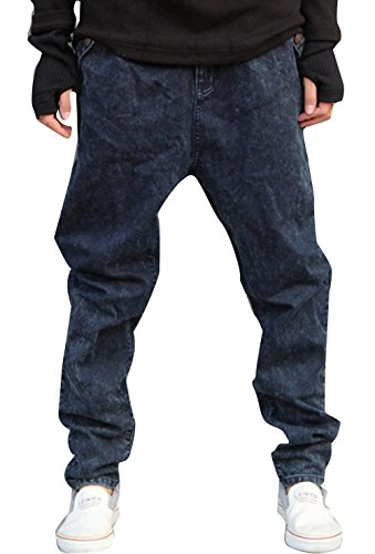Mper Men'S Stretchy Denim Jean Hip Hop Jogger Harem Pant Casual Slacks 3Xl(38)