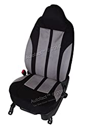 Autofact Brand Suede / Buff Velvet Car Seat Covers for Maruti Car 800 Old Model in Black and Dotted Light Grey Combination