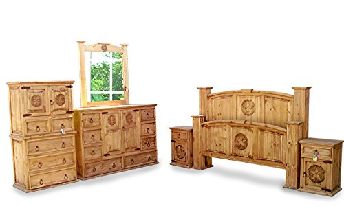 Queen Size Mansion Rustic Bedroom Set Free Delivery 6 Pcs