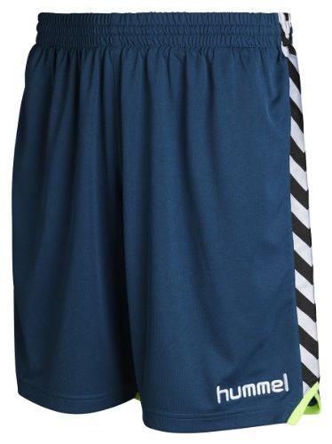 Hummel - Pantaloni corti Stay Authentic, poliestere, Blu (Legione blu), XL