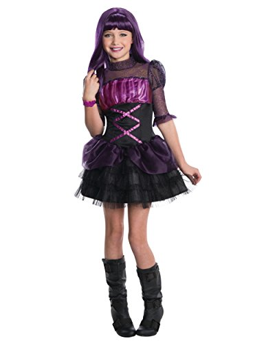 Child's Girls Monster High Elissabat Costume And Wig Bundle