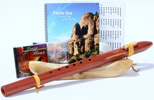 Windpony Key of Low C, Cedar Native American Style Flute, Book and 3 CD's (Retail Value $245.00)