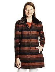 Gorgziapaul Women's Casual Jacket (AW15SCGP36_Brown_S)