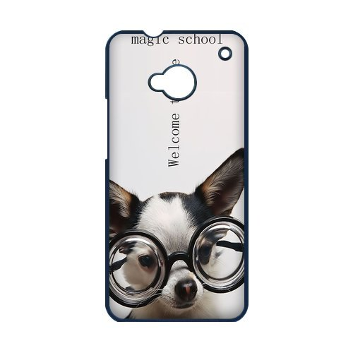 Generic Cell Phones Cover For Htc One M7 Case Cute Dog Portrait Dogs Little Brown Dachshund Greedy Pug Shiba Inu Poodle White Labrador Chihuahua Dog Puppy - Protective Designer Custom Made Hard Snap On Phone Cases front-1056930