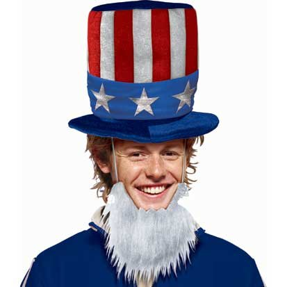 Patriotic Hat with Beard - 1