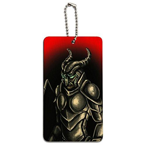 Knight Armor - Medieval Gladiator Warrior Dragon Slayer Wood ID Tag Luggage