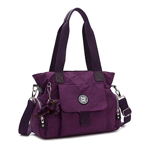 Cozyswan Waterproof Handbag Women's Nylon Oxford