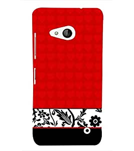 Red Classic Floral Girly 3D Hard Polycarbonate Designer Back Case Cover for Lumia Lumia 550 :: Microsoft Lumia 550