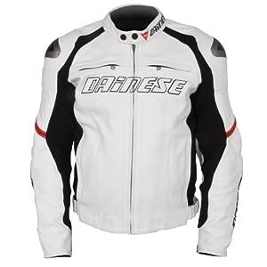 Dainese Racing Leather Jacket (US 44 / EU 54) (WHITE)