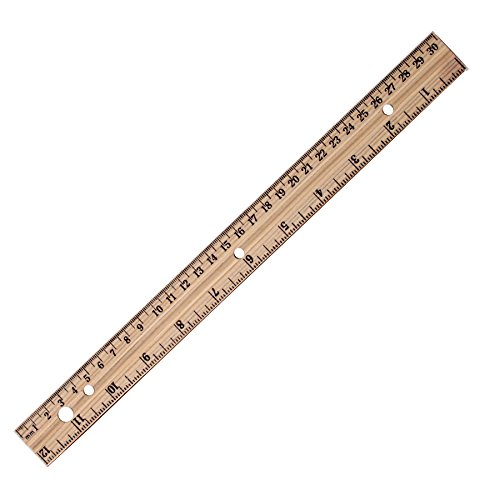 """A&W Products 12"""" Metric And Inch Ruler With Ring Binder"""