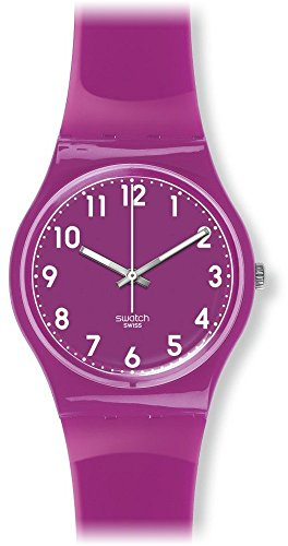 Swatch Women's GV126 Classic Analog Display Swiss Quartz Purple Watch