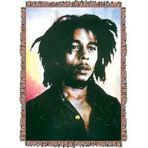 Bob Marley - Woven Throw Blankets