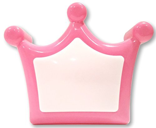 Princess Crown Push Light - Night Light - Wall Mountable or Free Standing - Easy to Use One Touch Operation - 1