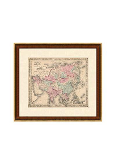 Antique Map of Asia, 1863-1869