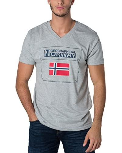 Geographical Norway T-Shirt Manica Corta Snht [Grigio]
