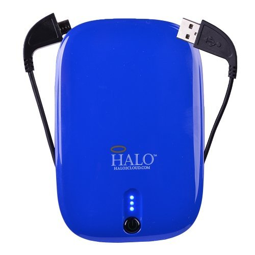 Halo Pocket Power 5500mAh Power Bank w/USB to Micro USB / Lightning / 30-Pin Flat Cable (Blue)