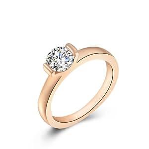 Amazon.com: Parati(TM) Sparkly Jewelry Ring Gold Plated CZ Diamond